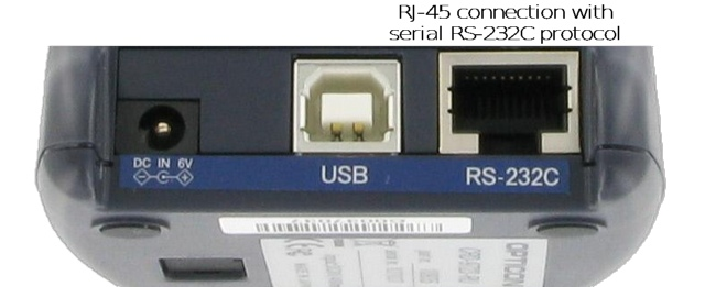 RJ45 serial/RS232C connection