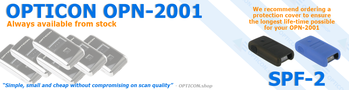 Always order an SPF-2 protection cover with your OPN2001!